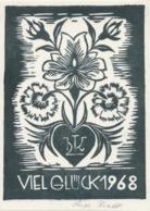 Nieuwjaarskaart 1968 Hugo Krafft - Hugo Krafft (gesigneerd) - Sin Clasificación