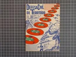 Cx 10) Portugal (militar E Civil) DEFESA CIVIL DO TERRITÓRIO CDT Brochura 1953 Proteção Civil Muito Invulgar 17x12cm 8pp - Sin Clasificación