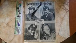 1944 WWII WW2 HAMBURGER ILLUSTRIERTE Zeitung NAZI GERMANY ARMY MAGAZINE MILITARY DEUTSCHE U-BOOT HOHE 112 - Politie En Leger