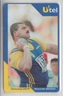 UKRAINE 1999 UTEL SHOT PUT OLEXANDER BAHACH OLYMPIC CHAMPION - Oekraïne