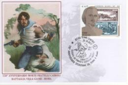 Italia 2017 Terni 150° Anniversario Morte Fratelli Cairoli - Battaglia Di Villa Glori Roma Annullo Cartolina - Altri
