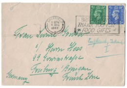 RB144  Great Britain 1949 Sheffield Slogan Cancellation Cover - 1902-1951 (Kings)