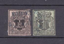 Hannover - 1856/57 - Michel Nr. 9/10 - Gest. - 55 Euro - Hannover