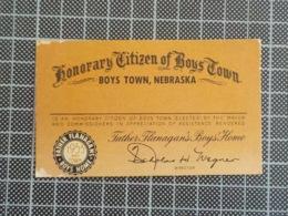 Cx 10) Americana US Honorary Citizen Of Boys Town Nebraska 1953 - Sin Clasificación