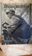 1944 WWII WW2 WIENER ILLUSTRIERTE Zeitung NAZI GERMANY ARMY MAGAZINE MILITARY DEUTSCHE GENERALOBERST EDUARD DIETL MEDAL - Police & Militaire