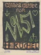 Wenskaart 1951 Heinrich Küchel - Heinrich Küchel (gesigneerd) - Sin Clasificación