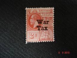 British Guiana 1918 2 Cent Red Overprint 'War Tax' SG271 MNH - British Guiana (...-1966)