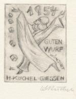 Wenskaart 1954 Heinrich Küchel - Heinrich Küchel (gesigneerde Ets) - Sin Clasificación