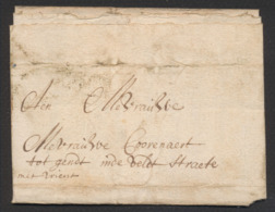 Précurseur - LAC Datée De Lichtervelde (1635) Vers Gendt. Pas De Port Visible, à Examiner ! Bon état. - 1621-1713 (Países Bajos Españoles)