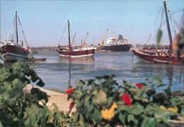 Postcard Basrah Basra Schiffe Im Hafen 1978 - Irak