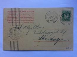 NORWAY 1905 Postcard - Ryfylke To Stavanger - Norwegen