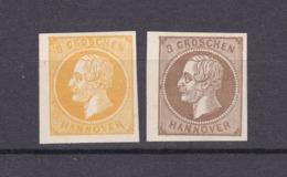 Hannover - 1859/61 - Michel Nr. 16 + 19 Neudrucke - Hanovre