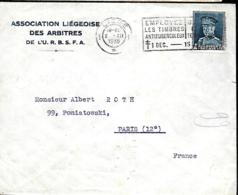 4 Lettres Thème Football Belge  1935, 36, 85 & 1986 - Covers & Documents