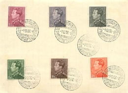 Belgique. TP 429, 431 à 435   Obl. 1/12/1936 1er Jour D'Emission  Poortman - FDC
