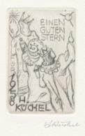 Wenskaart 1958 Heinrich Küchel - Heinrich Küchel (gesigneerde Ets) - Sin Clasificación