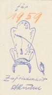 Wenskaart 1959 Heinrich Küchel - Heinrich Küchel (handgetekend) - Sin Clasificación