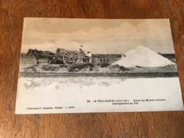 Carte Postale Ancienne CPA Le Pouliguen Attelage Dans Les Marais Salants Chargement Du Sel Circulée - Visvangst
