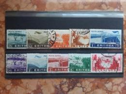 COLONIE ITALIANE - ERITREA - Posta Aerea Nn. 17/26 Timbrati + Spese Postali - Eritrea