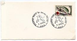 France N° 1395 Y. Et T. Paris Cachet Commémoratif Philatec Paris 64 Grand Palais 08/06/1964 - 1961-....