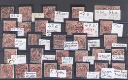 Dt. Reich, Umfangreicher Spezialposten Mi.Nr. 47 Auf Steckkarte (28884) - Deutschland