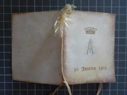 Cx 10) Carnet De Bal  Coroa De Conde 30.01.1905 9x7cm - Sin Clasificación