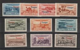 Maroc 1928 Au Profit Des Victimes Surcharge Tanger PA 22-31 10 Val * Charn - Airmail