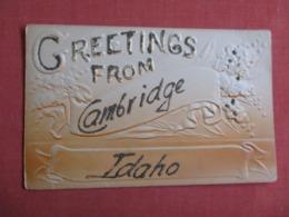 Embossed Greetings Cambridge - Idaho >  Ref 3623 - Etats-Unis