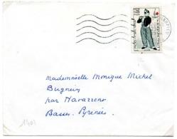 France N° 1401 Y. Et T. Isère Decines Charpieu Flamme Muette Du 23/01/1964 - Marcophilie (Lettres)