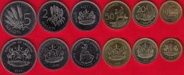 Lesotho Set Of 6 Coins: 10 Lisente - 5 Maloti 2010-2018 UNC - Lesotho