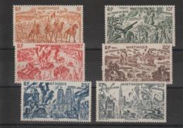 Martinique 1946 Série Tchad Au Rhin PA 7-12 6 Val ** MNH - Luchtpost