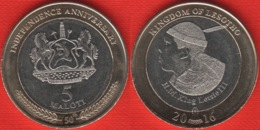 """Lesotho 5 Maloti 2016 """"Golden Jubilee Of Independence"""" BiMetallic UNC - Lesotho"""