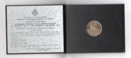 "ZZ - SAN MARINO 1975 , 500 Lire FDC - ""Scalpellino"" - Argento 835 - San Marino"