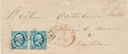 Nederland - 1863 - 2x5 Cent Willem III, 1e Emissie In Paar Op Cover Van Alkmaar Naar Amsterdam - 1852-1890 (Wilhelm III.)