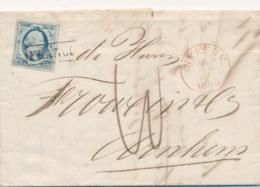 Nederland - 1864 - 5 Cent Willem III, 1e Emissie Op Complete Vouwbrief Van Nijkerk Naar Arnhem - Periode 1852-1890 (Willem III)