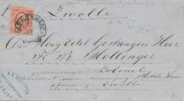 Nederland - 1859 - 5 Cent Willem III, 1e Emissie Op Omslag Van HRF 'sGravenhage Naar Zwolle - 1852-1890 (Wilhelm III.)