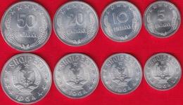 Albania Set Of 4 Coins: 5 - 50 Qindarka 1964 UNC - Albania