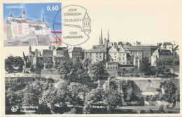 D38003 CARTE MAXIMUM CARD TRIPLE 2014 LUXEMBOURG - PANORAMA LUXEMBOURG CITY CP VINTAGE ORIGINAL - Otros