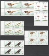 Y197 1990 SAHARA FAUNA BIRDS NEW ZEALAND 4SET MNH - Uccelli