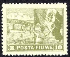 Fiume Sc# 43a Used 1919 15f On 10f Hungary Overprint On Savings Bank Stamp - 8. WW I Occupation