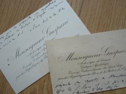 Cardinal GASPARRI (1852-1934) Evêque CESAREE (Israel) Accords LATRAN 1929. Autographe CDV Visiting Card - Autographes