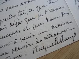 Hugues LE ROUX (1860-1925) Secrétaire Alphonse DAUDET. Journaliste. Colonies. AUTOGRAPHE - Autographs