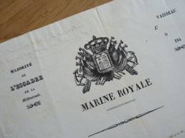 Marine ROYALE. TOULON 1843 - AMIRAL Gaud Amable HUGON (1783-1862) AUTOGRAPHE - Autographes
