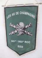 FANION 501°/503° RCC EED LES AS DE CHAMPAGNE - Drapeaux
