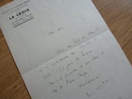 Luc ESTANG (1911-1992) Poète NEOCLASSIQUE. [ Paul Claudel ]. Inspiration CATHOLIQUE. AUTOGRAPHE - Autographes