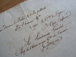 General EMPIRE (1813) Honoré GAZAN (1765-1845) VOLS Garde Magasins Réserve BAYONNE. AUTOGRAPHE - Autographes