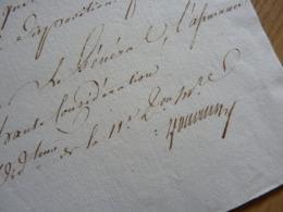 1814 Ordonnateur De La 11e Division Militaire. - VINS à BORDEAUX Et BLAYE - Autographes