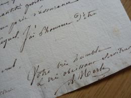 BLOCUS à BLAYE (1814) Par Alexandre MERLE (1780-1845) Maire SAINT AMOUR. Autographe - Autographes
