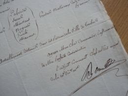 PRISONNIERS à TARBES. 1813. Adjudant Commandant BONIN. Gardes Nationaux. AUTOGRAPHE - Autographes