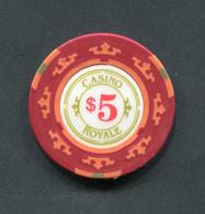 """Jeton De Casino """"5$ Casino Royale"""" édité Lors De La Sortie Du Film """"James Bond Casino Royale"""" Cinéma - Casino"""