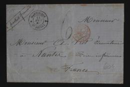 Martinique Cover St. Pierre -> Nantes 1867 - Martinique (1886-1947)